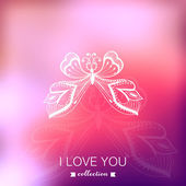 Vector Valentine's Day background. Blurred template, holiday. In — Vecteur