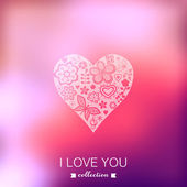 Vector Valentine's Day background. Heart. Blurred template, holi — Stock Vector