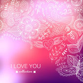 Vector Valentine's Day background. Blurred template, holiday. In — Stock Vector