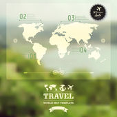 Vector blurred natural landscape.  Map on blurry background. Ide — Vetor de Stock