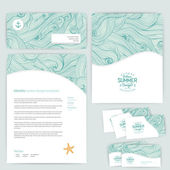 Vector corporate identity, wave pattern. Abstract backdrop. Mari — Vetor de Stock