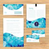 Vector corporate identity, wave pattern. Abstract backdrop.Geome — Vetor de Stock