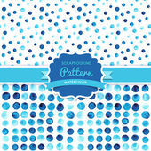 Vector watercolor circles seamless pattern (tiled). Retro paints — Stock Vector