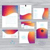 Vector corporate identity, wave pattern. Abstract backdrop.Geome — Stock Vector