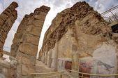 Massada fortress in Israel near Dead Sea — Stock Photo