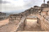 Nimrod castle and Israel landscape — Stock Photo