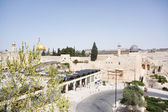 Wailing wall and temple mount — Stock Photo