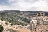 Nimrod castle and Israel landscape — Stock Photo