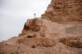 Holy land desert christianity — Stock Photo