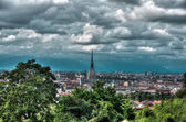 Dramatic sky over Torino — Stock Photo