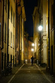 Stockholm old city at night — Stock Photo