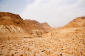 Tourists Hiking In Dead Sea Mountains — Stock Photo