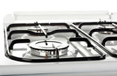 Gas burner on a stove — Stock Photo