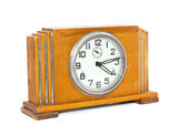 Old antique wooden clock — Stock Photo