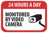 Security Camera Sign — Stock Vector