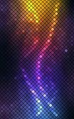 ネオンのモザイクの抽象的なベクトルの背景 — ストックベクタ