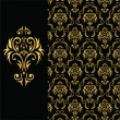 Elegant black and gold background from a floral ornament  — Grafika wektorowa