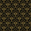 Elegant black and gold background from a floral ornament  — ベクター素材ストック