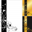 3 flower backgrounds — Stock Vector