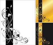 3 flower backgrounds — Stock Vector