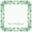 Stock Vector: Ornamental floral frame, vector background