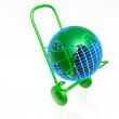 Globe cart — Stock Photo #1428303