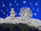 Zapfen und snowmans — Stockfoto