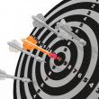 Arrows on the target — Stock Photo
