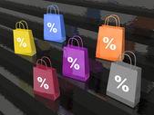 Shop bags — Stock Photo