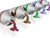 Color tube paints — Stock Photo