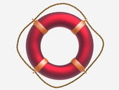 Red ring-buoy — Stock Photo