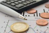 Financial background — Stock Photo