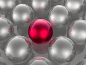 Red and grey spheres — Stock Photo