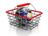 Shopping globe. — Stock Photo