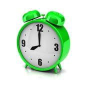 Green clock alarm — Stock Photo