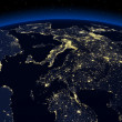 Stock Photo: Night earth