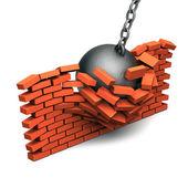 Crashed wall — Stock Photo