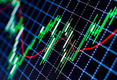 Forex charts — Stock Photo