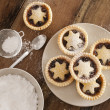 Traditional Christmas fruit mince pies — Stock Photo #42699885
