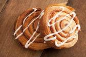 Freshly baked flaky Danish pastries — Stockfoto