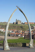Whalebone arch in Whitby, North Yorkshire — Stock Photo