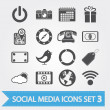 Social media icons set 3 - Stock Vector
