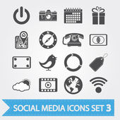 Social-media-icons set 3 — Stockvektor