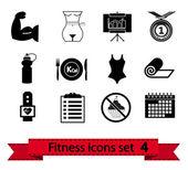 Fitness-symbol 4 — Stockvektor