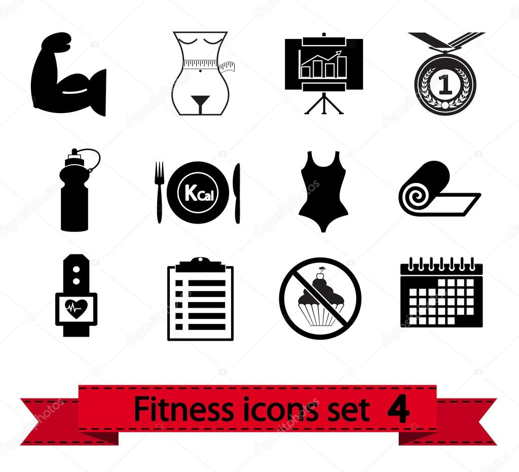 Professional fitness icons for your website. Vector illustration.  Stock Vector #12889441