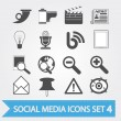 Social media icons set 4 — Stock Vector