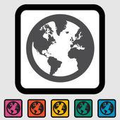 Simple World globe — Stock Vector