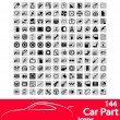 Stock Vector: Car part icons