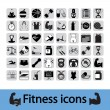Royalty-Free Stock Vector Image: Fitness icons set