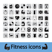 Fitness icons set — Stock vektor